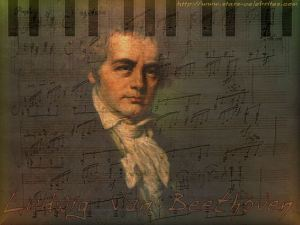 Beethoven against score
