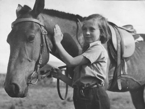 My Christmas present when I was nine. Saddled to the gate on Xmas morning