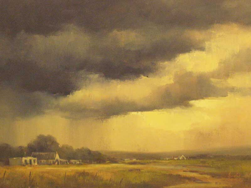 Highveldt Storm over Transvaal farm