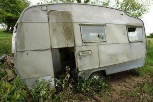 Caravan collapsing