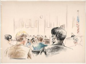 Courtroom Drawing Beineke Library Wikimedia Commons