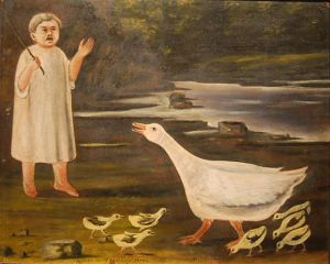 Goose girl Nikos Puroswami  Creative Commons
