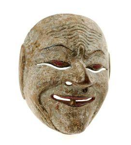 Mask COLLECTIE_TROPENMUSEUM_Houten_wajang_topeng_masker_vermoedelijk_Durna_voorstellend._TMnr_1886-8